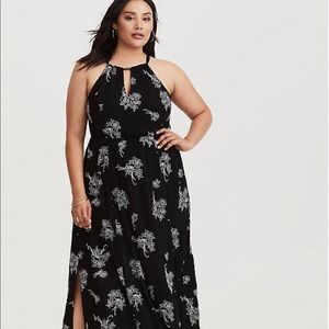 Torrid - Black and White Embroidered Dress